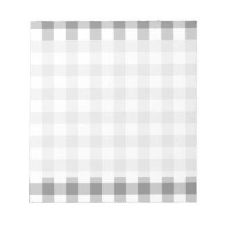 Modelo gris y blanco del control de la guinga libreta para notas
