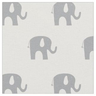Modelo gris y blanco del elefante moderno telas