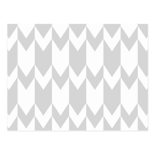 Modelo gris y blanco en colores pastel de Chevron Postales