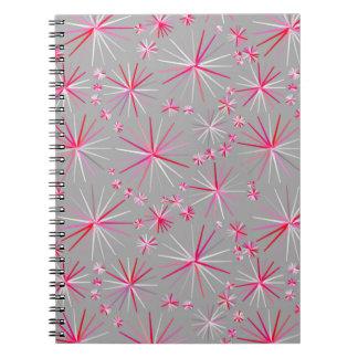 Modelo, gris y fucsia de Sputnik de los mediados Cuadernos