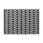 Modelo gris y negro de Chevron iPad Mini Cárcasas