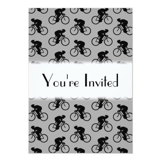Modelo gris y negro de la bicicleta anuncio
