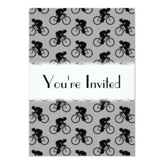 """Modelo gris y negro de la bicicleta invitación 5"""" x 7"""""""