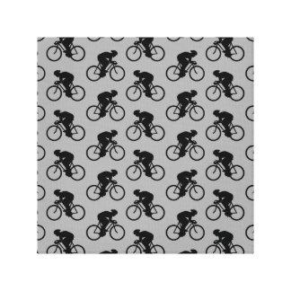 Modelo gris y negro de la bicicleta impresion de lienzo