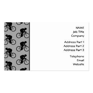 Modelo gris y negro de la bicicleta tarjetas de visita