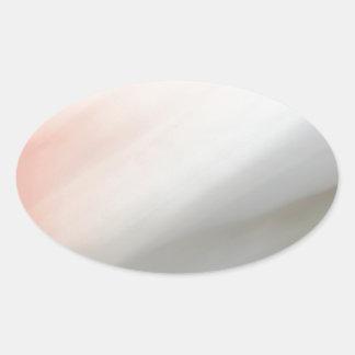 Modelo gris y rosado de la falta de definición de pegatinas de óval personalizadas