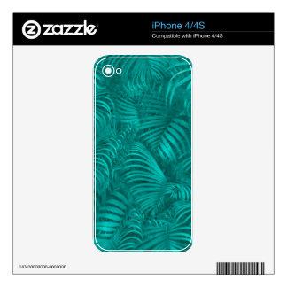 Modelo hawaiano tropical iPhone 4S calcomanía