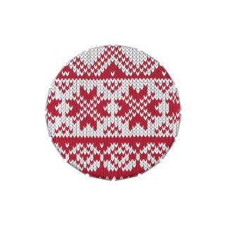 Modelo hecho punto de Navidad en rojo y blanco Frascos De Caramelos