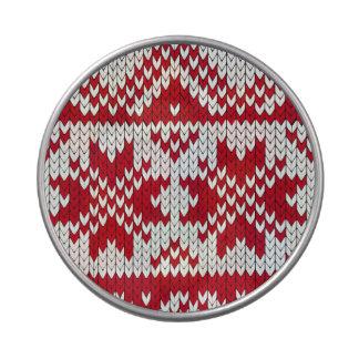 Modelo hecho punto de Navidad en rojo y blanco Latas De Caramelos