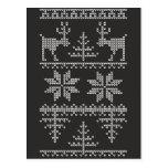 modelo hecho punto del suéter tarjeta postal