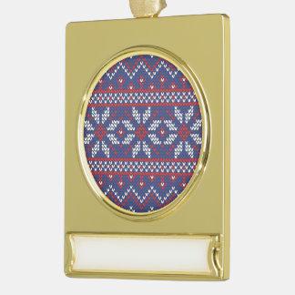 Modelo hecho punto extracto azul del navidad y adornos personalizables