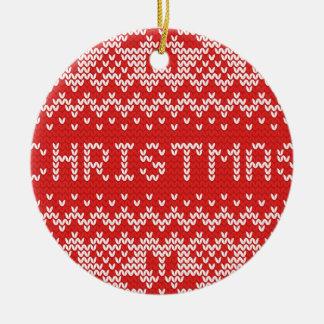 Modelo hecho punto extracto del navidad blanco adorno navideño redondo de cerámica
