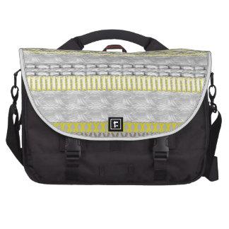 Modelo hecho punto gris amarillo de moda de FairIs Bolsas Para Portátil