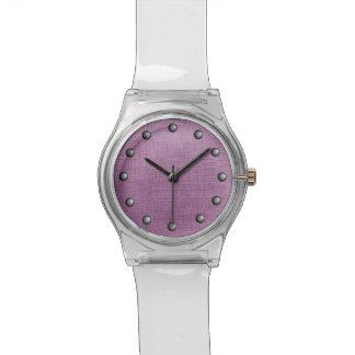 Modelo hecho punto rosas bebés del lazo relojes de pulsera