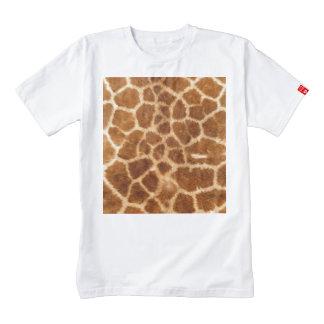 Modelo hermoso de la capa de la jirafa playera zazzle HEART