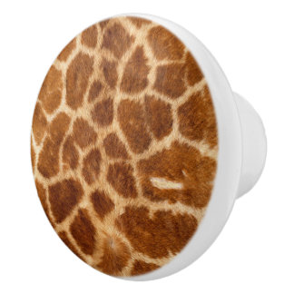 Modelo hermoso de la capa de la jirafa pomo de cerámica