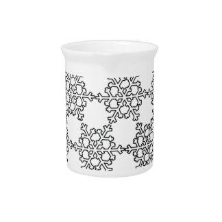 Modelo hermoso del copo de nieve jarras de beber