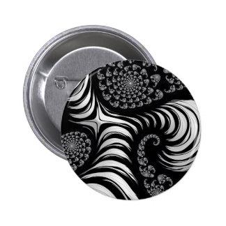 Modelo hermoso del fractal pin redondo 5 cm