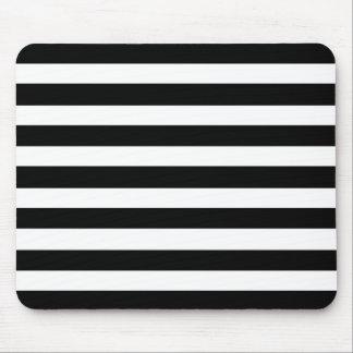Modelo horizontal elegante blanco y negro de las r alfombrilla de ratón