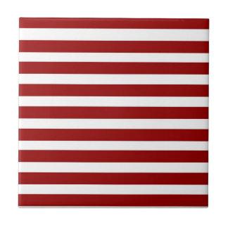 Modelo horizontal rojo y blanco de las rayas azulejos ceramicos
