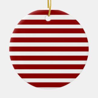 Modelo horizontal rojo y blanco de las rayas adorno