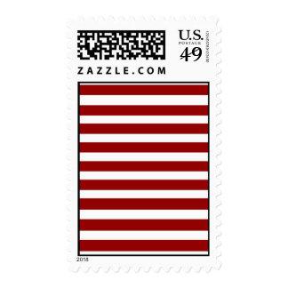 Modelo horizontal rojo y blanco de las rayas sellos