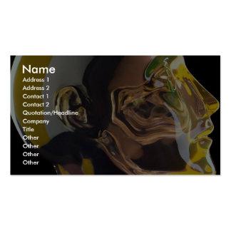 Modelo humano del cráneo en vidrio tarjetas de visita