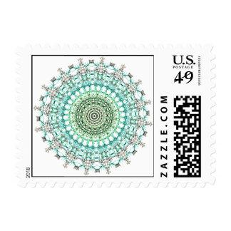 Modelo imperecedero de la mandala sellos postales