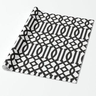 Modelo imperial blanco y negro de moda del papel de regalo
