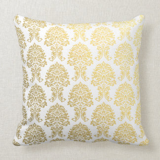 modelo impreso damasco del oro almohadas