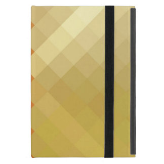 Modelo inconsútil 2 del diamante amarillo y iPad mini funda