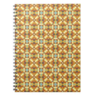 Modelo inconsútil 6 de los adornos marroquíes cuaderno