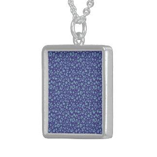 Modelo inconsútil abstracto, azul 03 colgante cuadrado