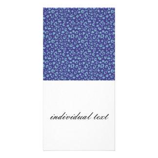 Modelo inconsútil abstracto, azul 03 tarjetas fotográficas personalizadas