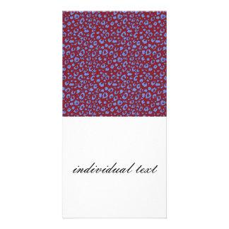 Modelo inconsútil abstracto, azul rojo 03 tarjetas fotograficas personalizadas