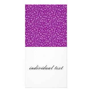 Modelo inconsútil abstracto, púrpura 03 tarjeta fotografica personalizada