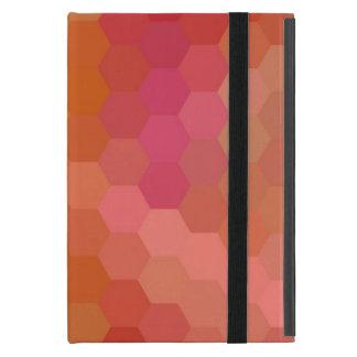 Modelo inconsútil anaranjado y rosado de Chevron iPad Mini Cárcasas