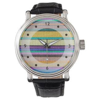 Modelo inconsútil coloreado 1 de las rayas que relojes de mano