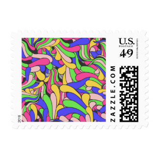 Modelo inconsútil colorido sello