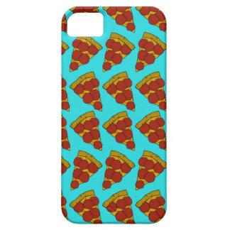 Modelo inconsútil con las rebanadas de pizza funda para iPhone 5 barely there