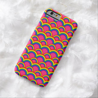 Modelo inconsútil con los arco iris funda barely there iPhone 6
