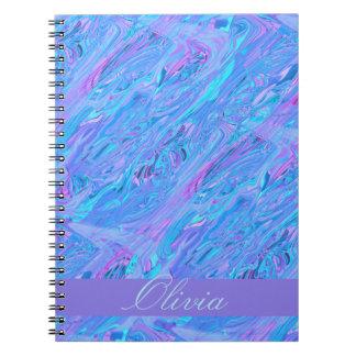 Modelo inconsútil cristalino cuaderno
