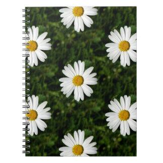 Modelo inconsútil de la floración de la margarita spiral notebook