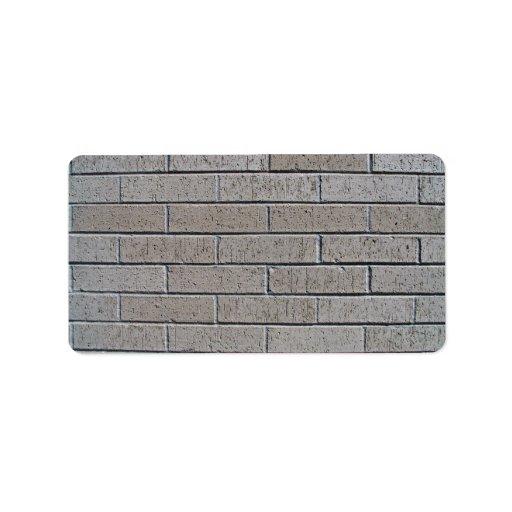 Modelo inconsútil de la pared de ladrillo gris etiqueta de dirección