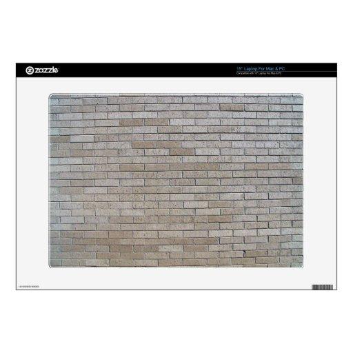 Modelo inconsútil de la pared de ladrillo gris portátil calcomanía
