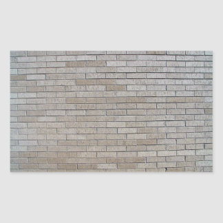 Modelo inconsútil de la pared de ladrillo gris rectangular pegatina