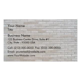 Modelo inconsútil de la pared de ladrillo gris plantilla de tarjeta personal