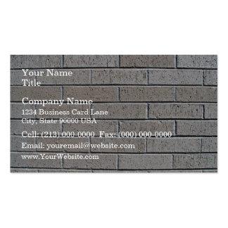 Modelo inconsútil de la pared de ladrillo gris tarjeta de visita