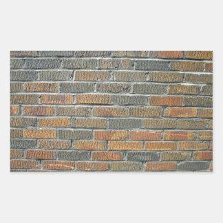 Modelo inconsútil de la pared de ladrillo rectangular pegatinas