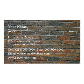 Modelo inconsútil de la pared de ladrillo plantillas de tarjeta de negocio